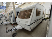 2004 Abbey Advantage SL 6 Berth Touring Caravan with Fixed Bunks and Garage
