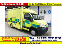 2008 - 08 - IVECO DAILY 50C18 3.0HPI WILKER BODY AMBULANCE / CAMPE (GUIDE PRICE)