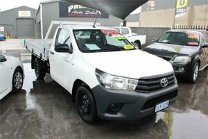 2016 Toyota Hilux TGN121R Workmate White 6 Speed Automatic Cab Chassis Mitchell Gungahlin Area Preview