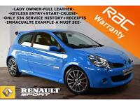 2009 Renault Clio 2.0 VVT 197bhp Renault sport -LADY OWNER-LEATHER-KEYLESS-