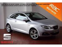 2010 Seat Ibiza 1.6 TDI CR SportCoupe Sport-67.3MPG-£30 TAX-SPORTS SEATS-AIR CON
