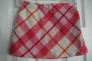 Gap Kids Girls size 7 Red Plaid Check Adjustable Waist Holiday