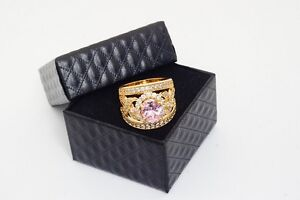 Ring 24k gold plated, created pink sapphire, Size Q (8) Parkes Parkes Area Preview
