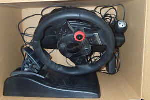 Logitech Driving Force Pro Steering Wheel for PlayStation 2