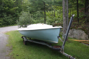 16ft Oday Day Sailer on Trailer