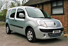 2011 RENAULT KANGOO 1.6 PETROL EXPRESSION AUTOMATIC WITH AIR CON. 22000 MILES