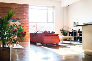 Spacious contemporary downtown loft for rent