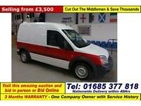 2012 - 61 - FORD TRANSIT CONNECT T230 1.8TDCI 90PS LWB HI TOP VAN (GUIDE PRICE)