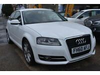 BAD CREDIT CAR FINANCE AVAILABLE 2011 60 AUDI A3 1.4T FSI SPORT 5 DOOR