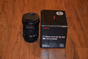 Sigma 17-50mm F 2.8 EX DC OS Lens with Polarizer Canon Mount
