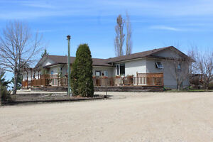 3.2 Beautiful Landscaped Acres with House & Shop near Roblin, MB