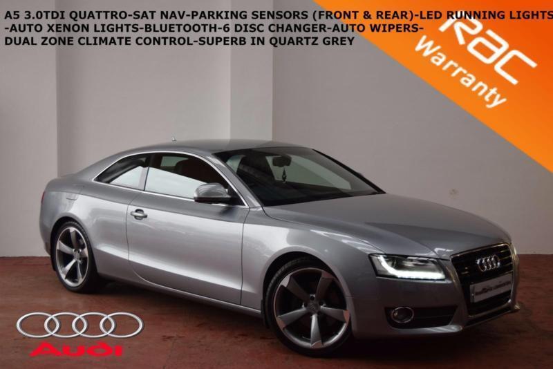 2008 Audi A5 3.0TDI QUATTRO SPORT-SAT NAV-LEATHER-CRUISE-F+R PARKING SYSTEM-