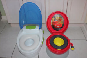 CARS POTTY and REGULAR WHITE POTTY