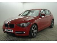 2014 BMW 1 Series 118D SPORT Diesel red Manual