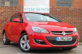 Vauxhall Astra 1.4i VVT 16v 100ps SRi Manual Petrol 5 Door Hatchback in Red