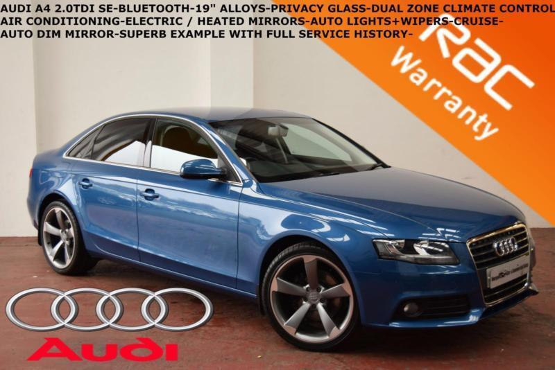 "2010 Audi A4 2.0TDI (143PS) SE-B.TOOTH-CRUISE-19"" ALLOYS-PRIVACY GLASS-F.S.H."