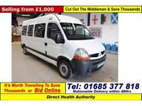 2007 - 57 - RENAULT MASTER DCI 120 7 SEAT DISABLED ACCESS PTS MINIBUS