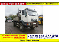 2004 - 53 - MAN LE 18.220 4X4 18TON FLATBED C/W REAR MOUNTED CRANE (GUIDE PRICE)