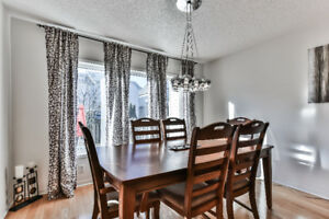 Dining Table with 2 arm chairs and 4 dining chairs
