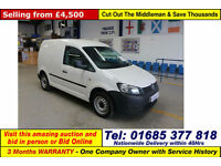 2012 - 62 - VOLKSWAGEN CADDY C20 1.6TDI 75PS VAN (GUIDE PRICE)