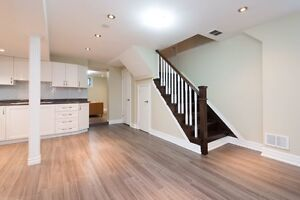 beautifully renovated 2 bedroom basement apartment for rent