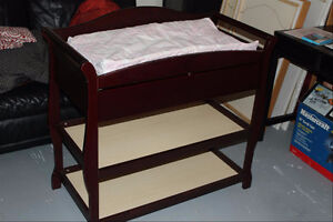 Espresso/Cherry Changing table