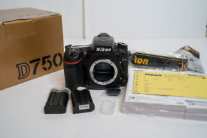Nikon D750 Full Frame dSLR-Low Shutter Count-3 Batteries-Boxes