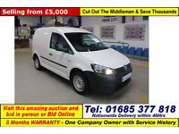 2012 - 62 - VOLKSWAGEN CADDY C20 1.6TDI 75PS BLUEMOTION VAN (GUIDE PRICE)