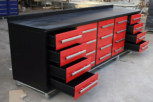 NEW 10FT / 7FT HEAVY DUTY STEEL WORK BENCH TOOL GARAGE STORAGE