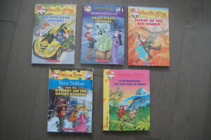 lot of 5 Geronimo Stilton books, for your classroom or kids