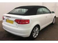 White Audi A3 Cabriolet 1.6 1.8 2.0 TDI Diesel Final Edition FROM £62 PER WEEK!
