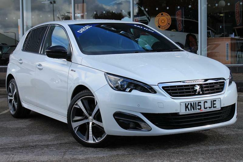peugeot 308 gt line 2 0 bluehdi 150 gt line 5 door one owner from new white 2015 in bolton. Black Bedroom Furniture Sets. Home Design Ideas
