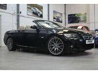 BMW 330d M Sport Convertible, 57 Reg, 58k, Sapphire Black, Cream Leather, 19's.