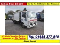 2009 - 09 - ISUZU N75-190 7.5TON EASYSHIFT 4X2 REFUSE VEHICLE C/W BIN LIFT