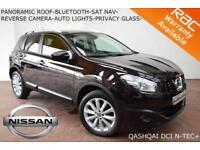 13 Nissan Qashqai 1.5dCi 2WD N-TEC+PAN ROOF-BLUETOOTH-NAV-CAMERA-S/H