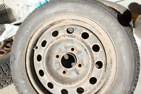 snow tires with rims-volvo (4 pc)