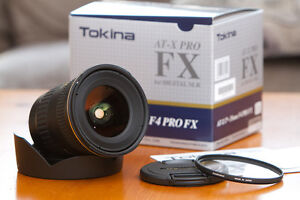 like new tokina ATX 17 35 F4 FX PRO ultra wide angle for canon