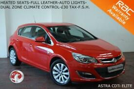 2014 Vauxhall/Opel Astra 2.0CDTi 16v (165ps) ecoFLEX Elite-HEATED LEATHER-F.S.H