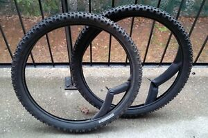 Fat mountain bike tires with tubes. 26 X 3.0