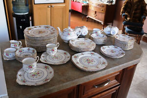 """REDUCED""  ROYAL ALBERT PETIT POINT DISHES VINTAGE NEVER USED"