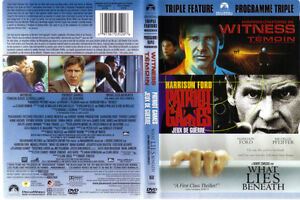 Harrison Ford Triple Feature: Patriot Games, Witness, What Lies West Island Greater Montréal image 1