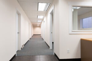 Office space with 4 private offices, private washroom 1200 sq ft