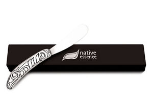 Pewter Pate Cheese Fruit Knife, Wild Salmon by Corey Moraes, NEW