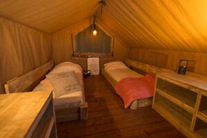Glamping tent, cabin, barnwood, lake lot, Rv lot, winery Williams Lake Cariboo Area image 8