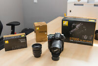 NIKON D7000, 2 LENSES, BATTERY GRIP AND BAG PACKAGE