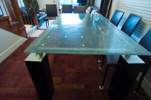 Glass Dining table $800 (Vancouver)