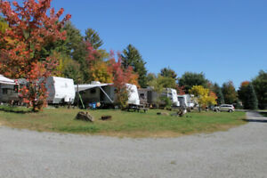 Seasonal sites in a small, family operated trailer park
