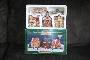 11 pc. Christmas Street Village Set with Lights in Box