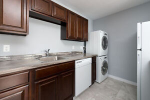 COMPLETELY RENOVATED 1 BEDROOM WITH IN SUITE WASHER AND DRYER