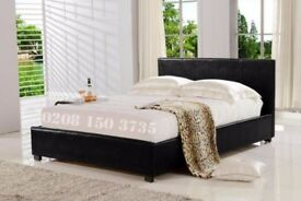 🌷💚🌷CASH ON DELIVERY🌷💚🌷LEATHER BED-DOUBLE SIZE FRAME -BLACK-BROWN- WITH MATTRESS
